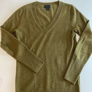 J. Crew Italian Cashmere Olive Green Sweater XS
